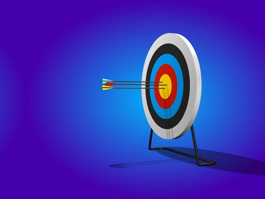 arrow, target, range